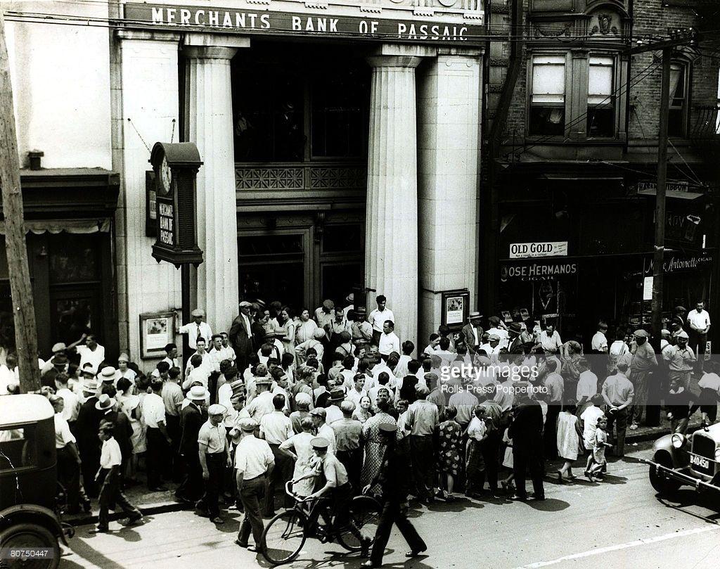 1929 Depositors Storm A Passaic New Jersey Merchant Bank