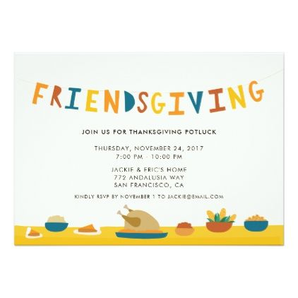 Friendsgiving Party Invitation  Thanksgiving Invitations Holiday