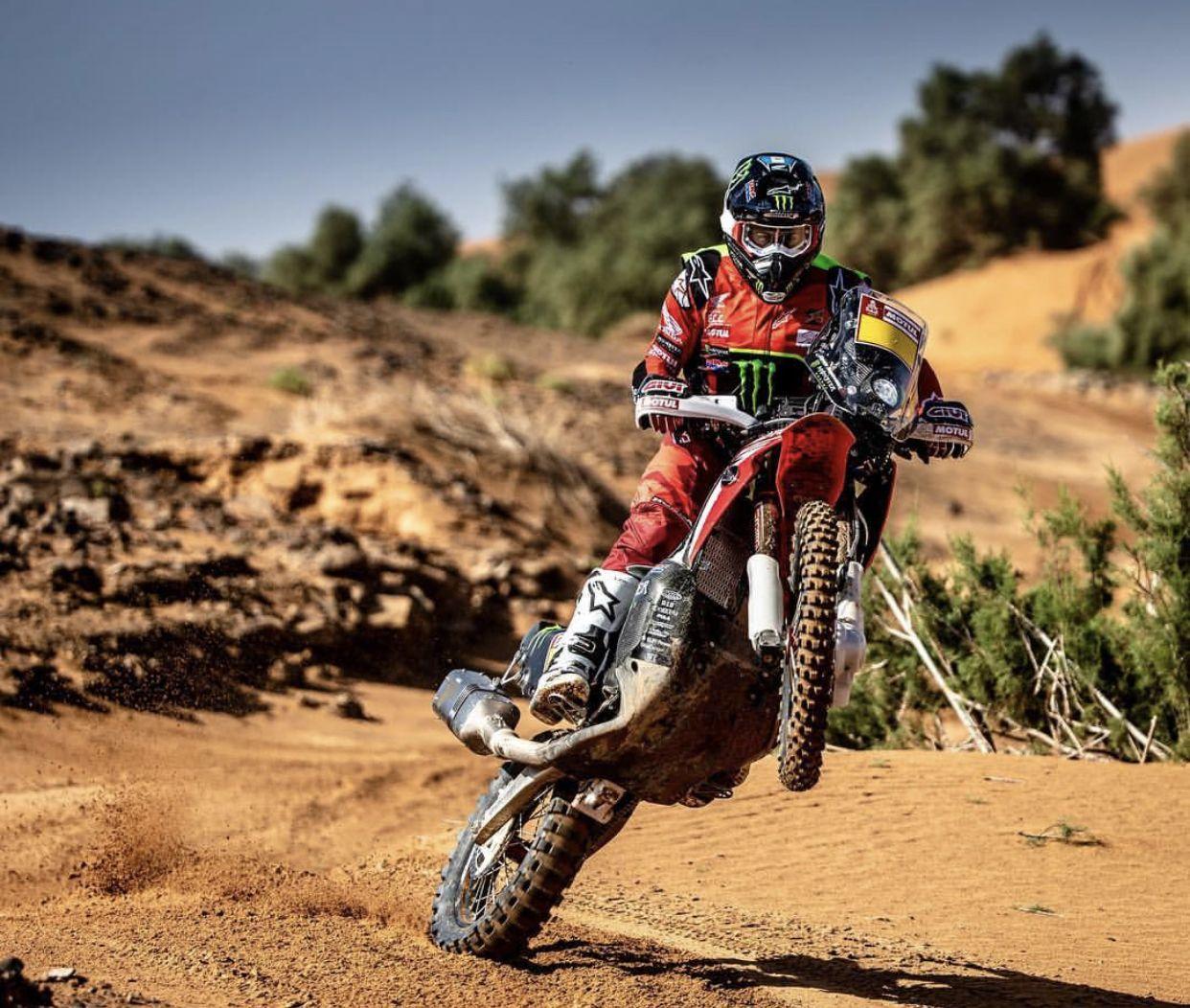 Honda Rally Team Kevin Benevides Riding Motorcycle Dirtbikes Adventure Bike
