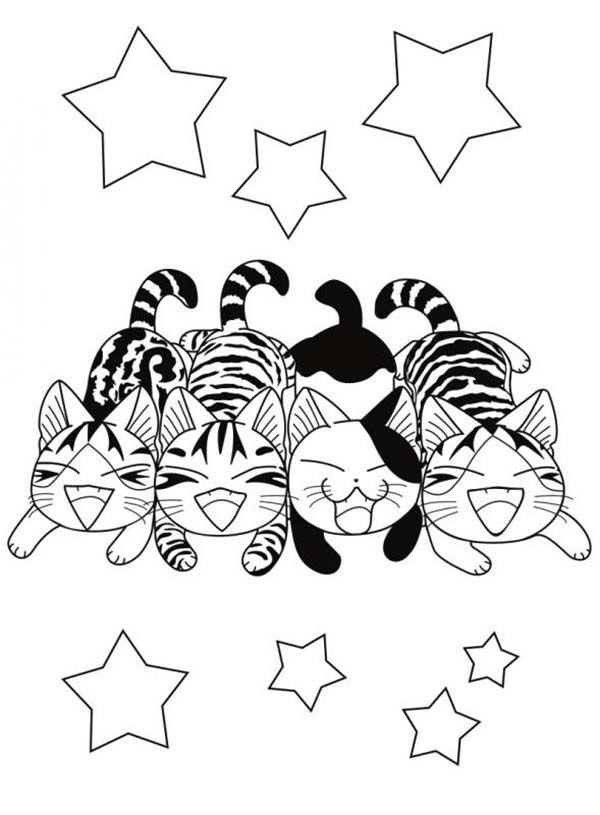 Coloriage chi une vie de chat coloriages pour enfant chi une vie de chat coloriage chat - Chat a colorier kawaii ...