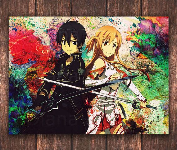 Cute Anime Wall Sticker SAO Gun Gale Online Llenn Art Home Decal Decor sticker