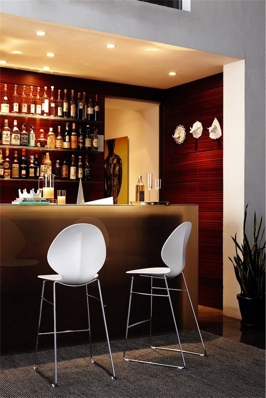 Calligaris | Basil Bar Stool | Available in two heights and a ...