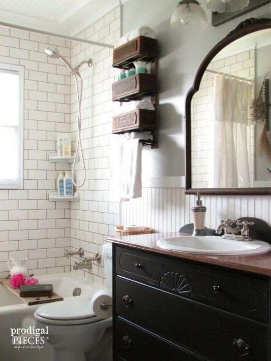 Elegant 15 Farmhouse Style Bathrooms Full Of Rustic Charm