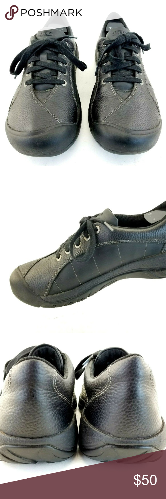KEEN Womans 'Presidio' Black Leather Oxford Hikin KEEN