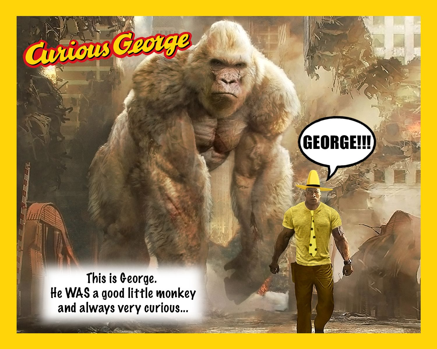 Rampage The Gorilla Is Named George So That Makes Dwayne Johnson