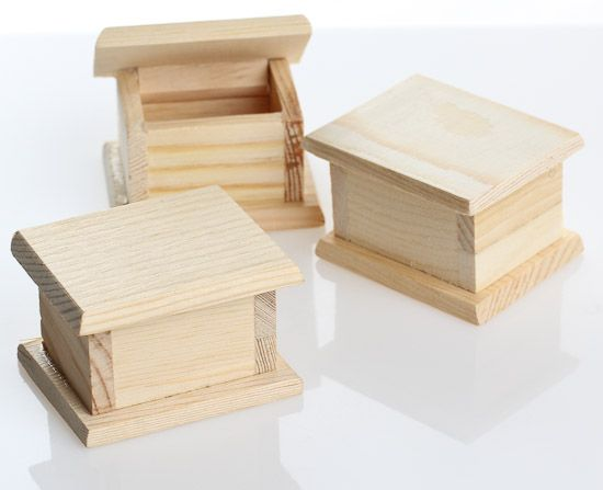Miniature Unfinished Wood Boxes 12pcs Fun With
