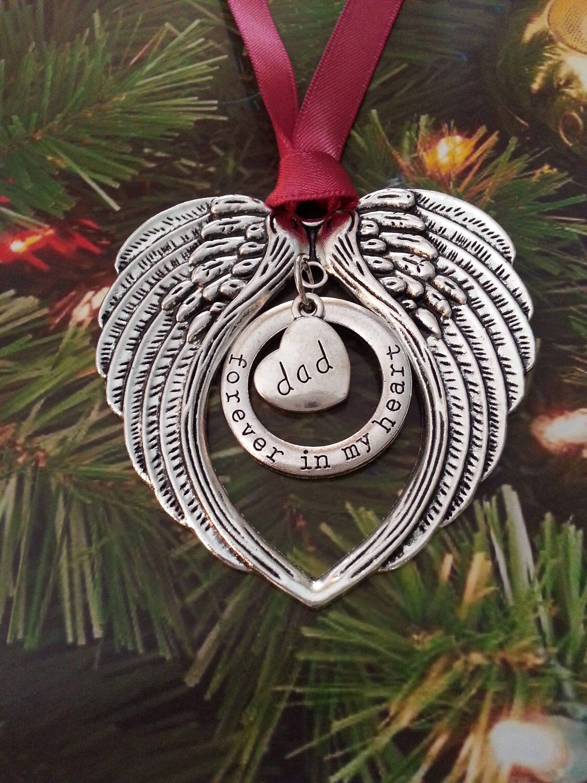 Mom Dad Memorial Christmas Angel Ornament Grief Son Etsy Christmas Angel Ornaments Angel Ornaments Sister Christmas Ornaments