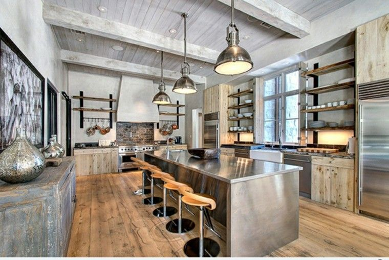 Diseño industrial cocinas modernas y originales | Estilo industrial ...