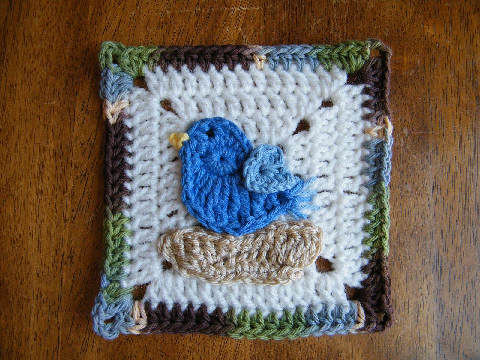 Ravelry Bird Applique Pattern By Janet Carrillo Crochetknit