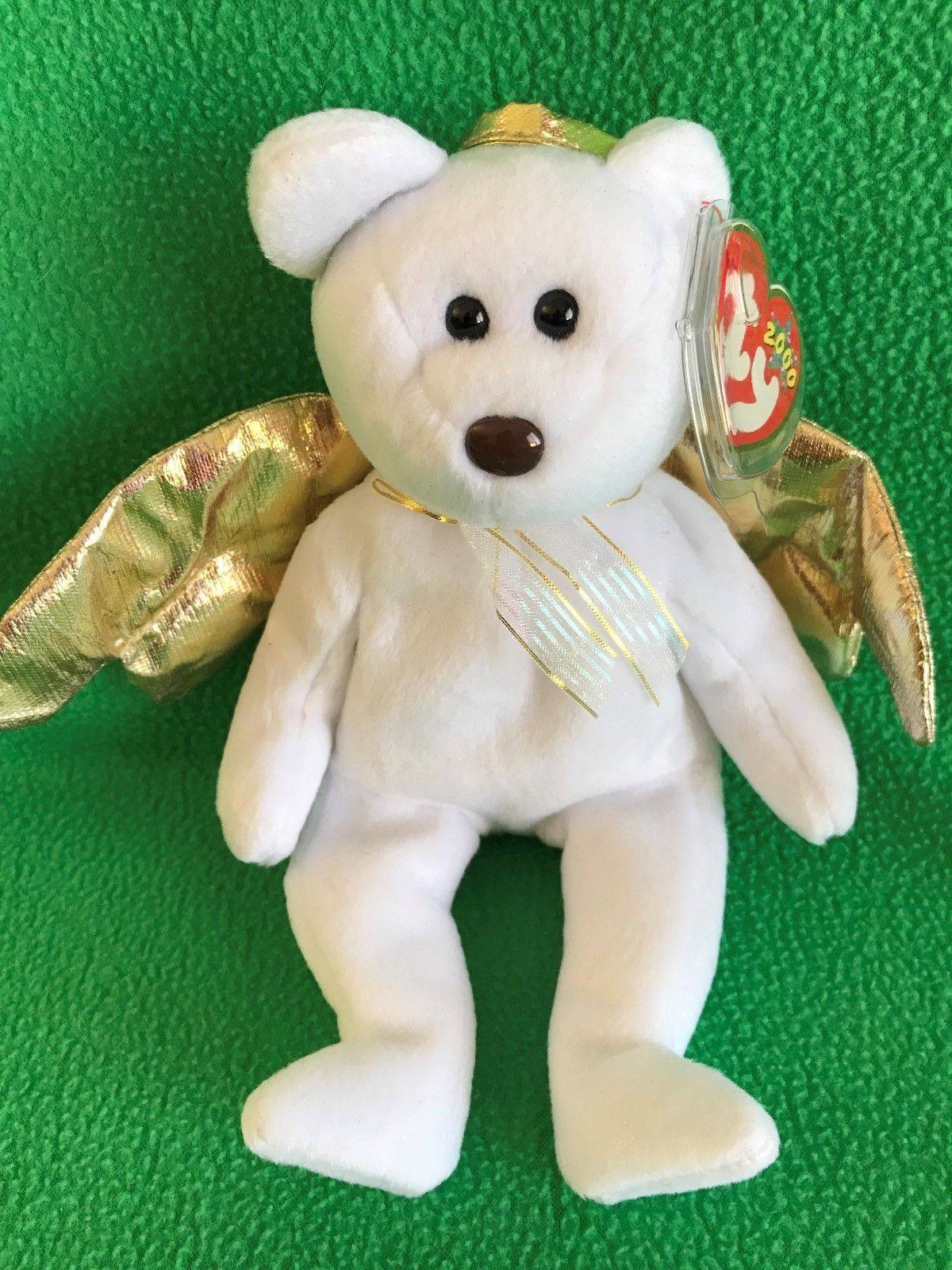 111c5ba6008 Pristine! TY Beanie Baby HALO II The Angel bear MWMT 2000 Stuffed ...