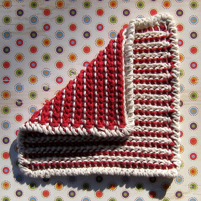 Ravelry: Simple Cro-Hook Dishcloth pattern by Kathleen Bonatti ...