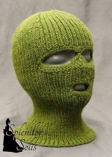 Balaclava Pattern By Splendor Solis Beanie Pinterest Knitted