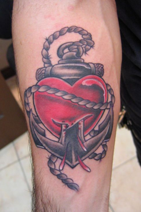 Anchor Heart Tattoo Design Tattoos Heart Tattoo Designs
