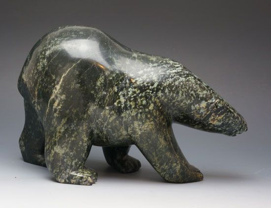 Inuit Sculpture by Qoraq Nungsuitok at Home & Away Gallery