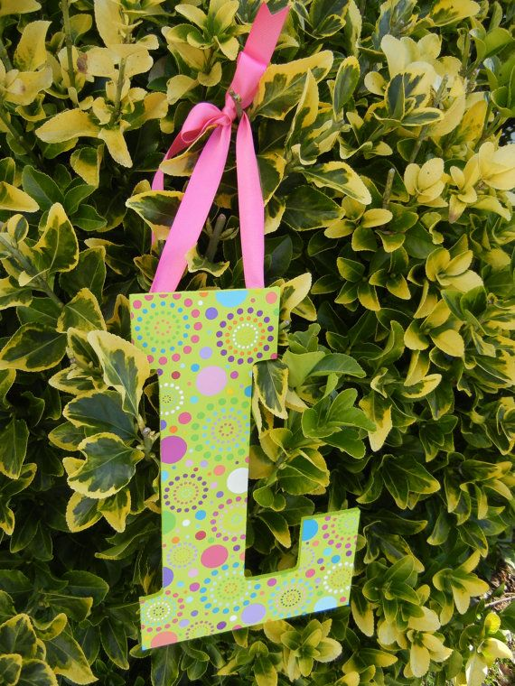 Items Similar To Wooden Letters Wall Art Hand Painted Wall Art Custom Home Decor Initials Letter On Etsy