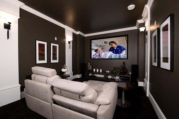 How Do I Pick The Colors For My Media Room Small Media Rooms Small Movie Room Theater Room Design