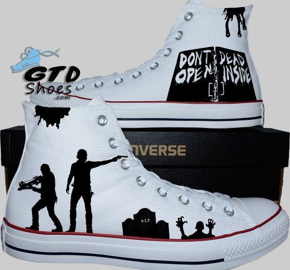 6df0b9111e83 Hand Painted Converse Hi. The Walking Dead. Rick Grimes