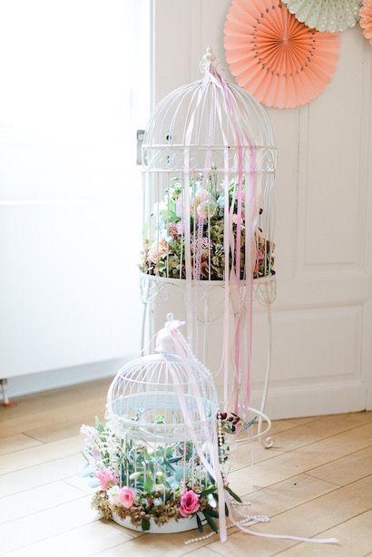 Vogelkfig zur Dekoration toll Hochzeitsinspiration