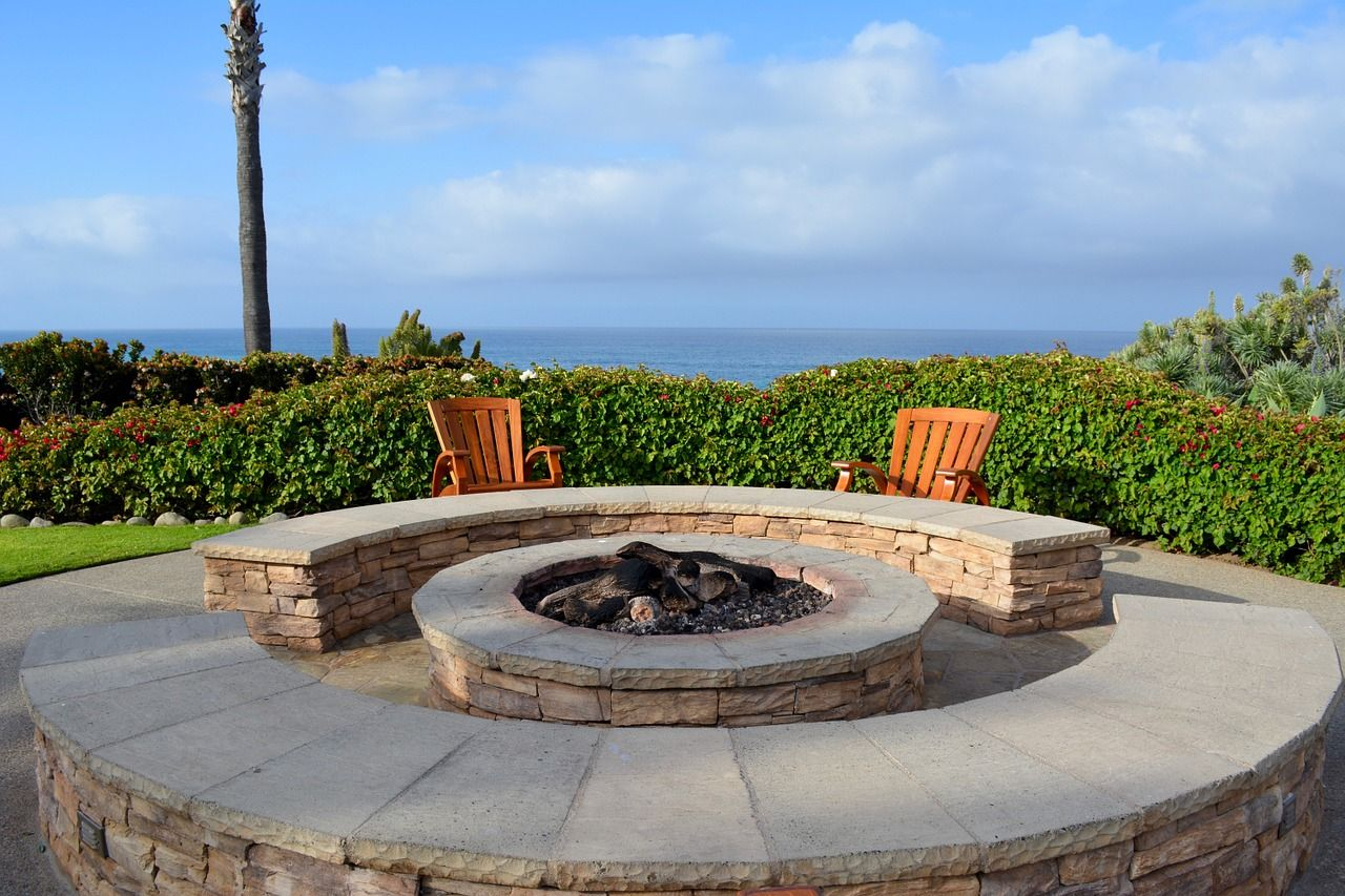 keep warm with fire pits during winter fire pit plans on backyard fire pit landscaping id=58450