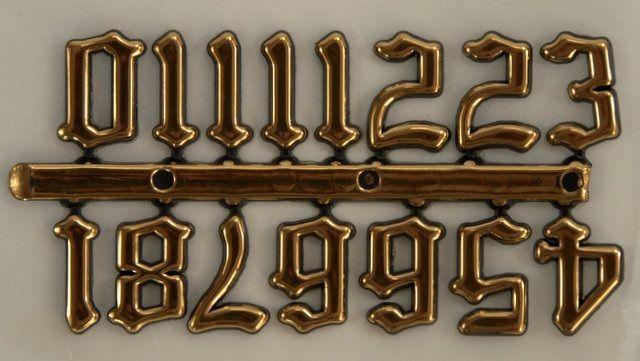 Čísla 1,5 cm - staroanglické (zlaté, samolepiace)