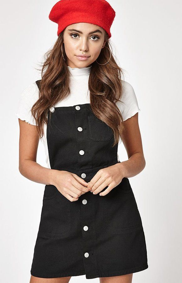 8c195df8bf PacSun Button Front Overall Dress