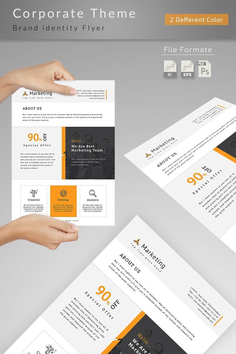 Multifunctional Business Flyer Corporate Identity Template