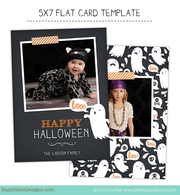 Halloween Photo Card Template For Photographers Halloween Photo Card Card Template Photographe Halloween Photo Cards Photo Card Template Halloween Cards