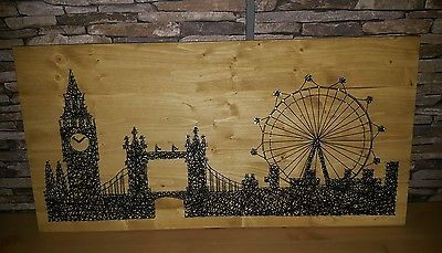 string art bild london eye big ben und tower bridge. Black Bedroom Furniture Sets. Home Design Ideas