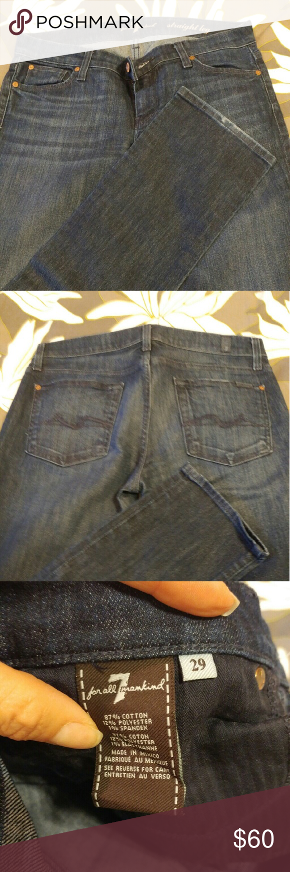 For All Mankind Straight leg, size 29. Like new condition Jeans Straight Leg