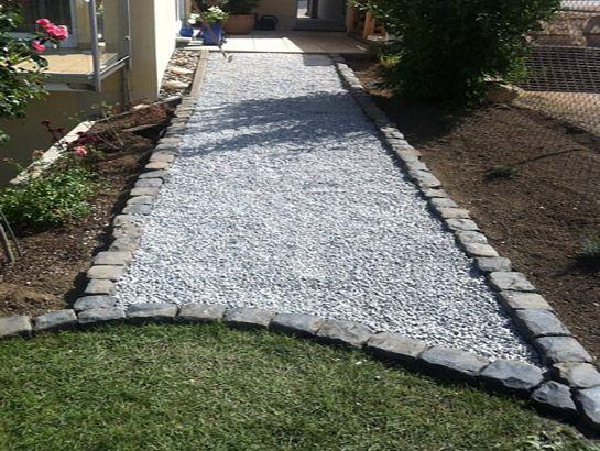 Weggestaltung Granit Splitt Galabau Gies Garten Diy Hinterhof Garten Ideen