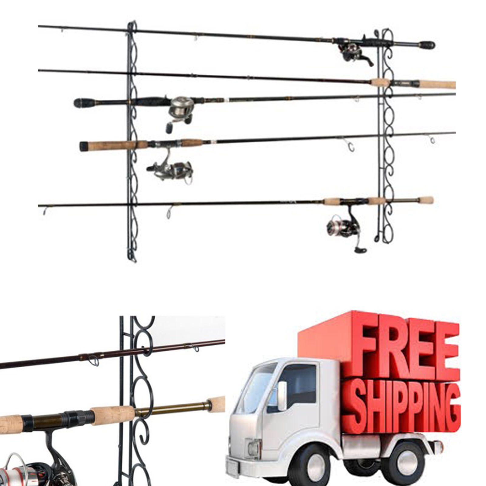 Fishing Rod Organizer 9 Wire Horizontal Ceiling Rack Storage Holder ...