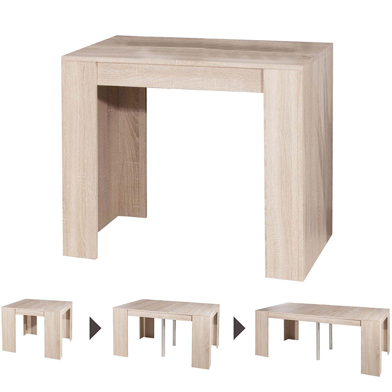 Table Console Extensible Bois.Symbiosis 2070a3400x00 Console Extensible Bois Chene Naturel