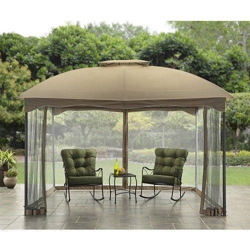 Outdoor Patio Gazebo 10x12 Canopy Top Heavy Duty Steel Frame Backyard Furniture Outdoorpatiogazebo