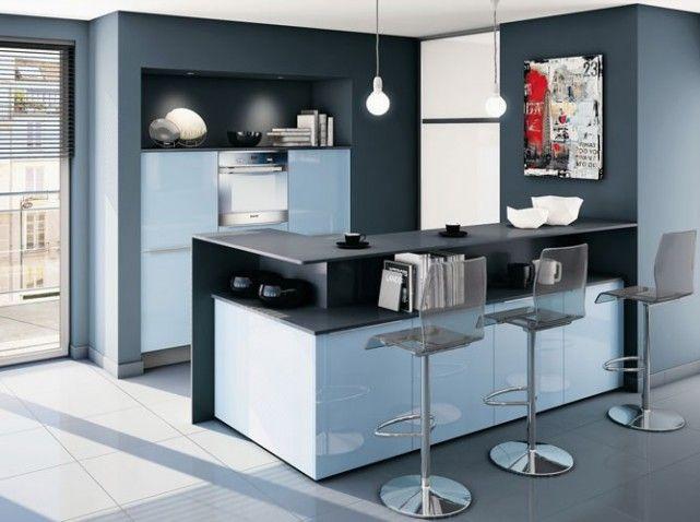 Petite cuisine bleu mobalpa cuisine pinterest plus d for Petite cuisine amenagee americaine