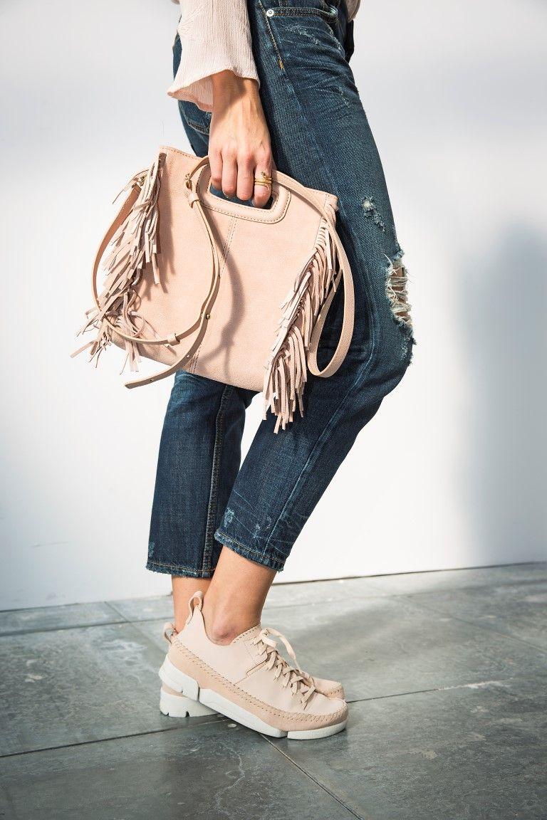 Clarks Original Wallabee Sand Combi Suede Womens Shoes