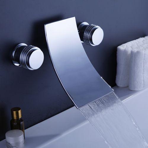 cascada generalizada grifo de la bañera contemporánea (cromado ...