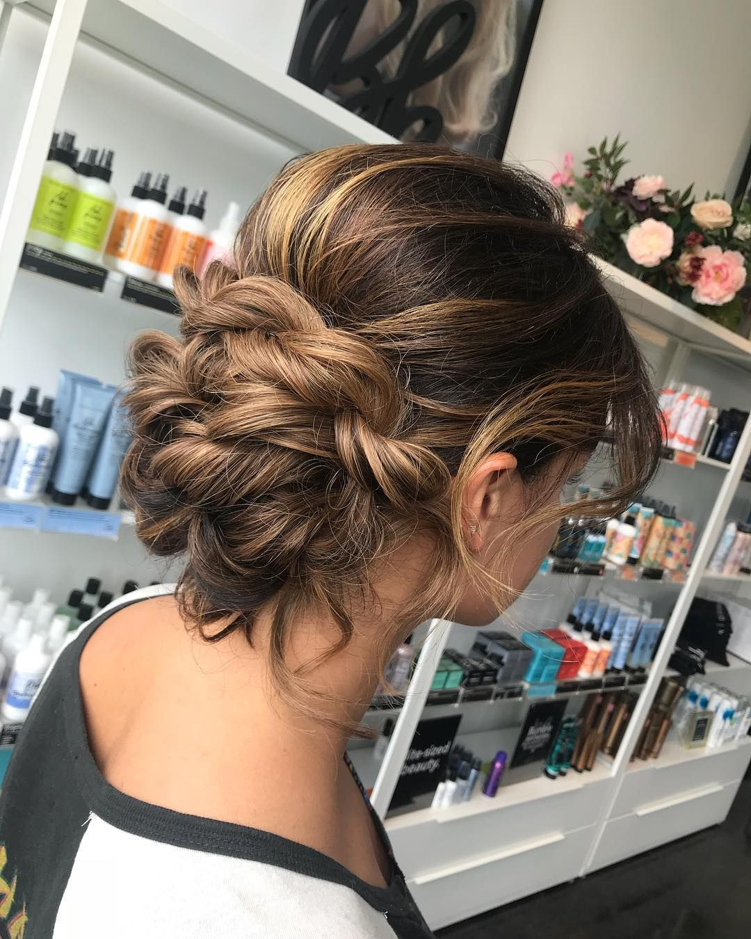 CLASSY AND WISPY updo. Perfect wedding hair or prom hair. #bridalhair #weddinghair … | Wedding ...