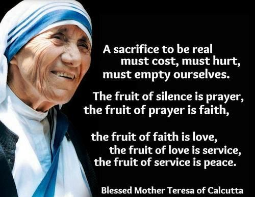 Mother Teresa Quotes About Service. QuotesGram | Mother Teresa