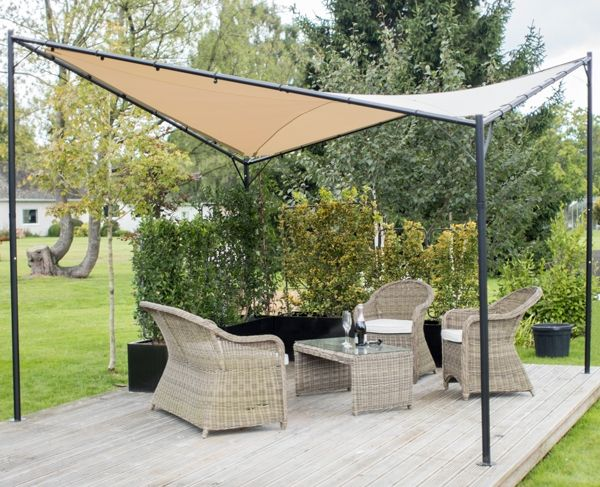 Kookaburra® 3.5m Square Sand Waterproof Shade Sail Gazebo Frame and Fixing Kit : kookaburra tent - memphite.com