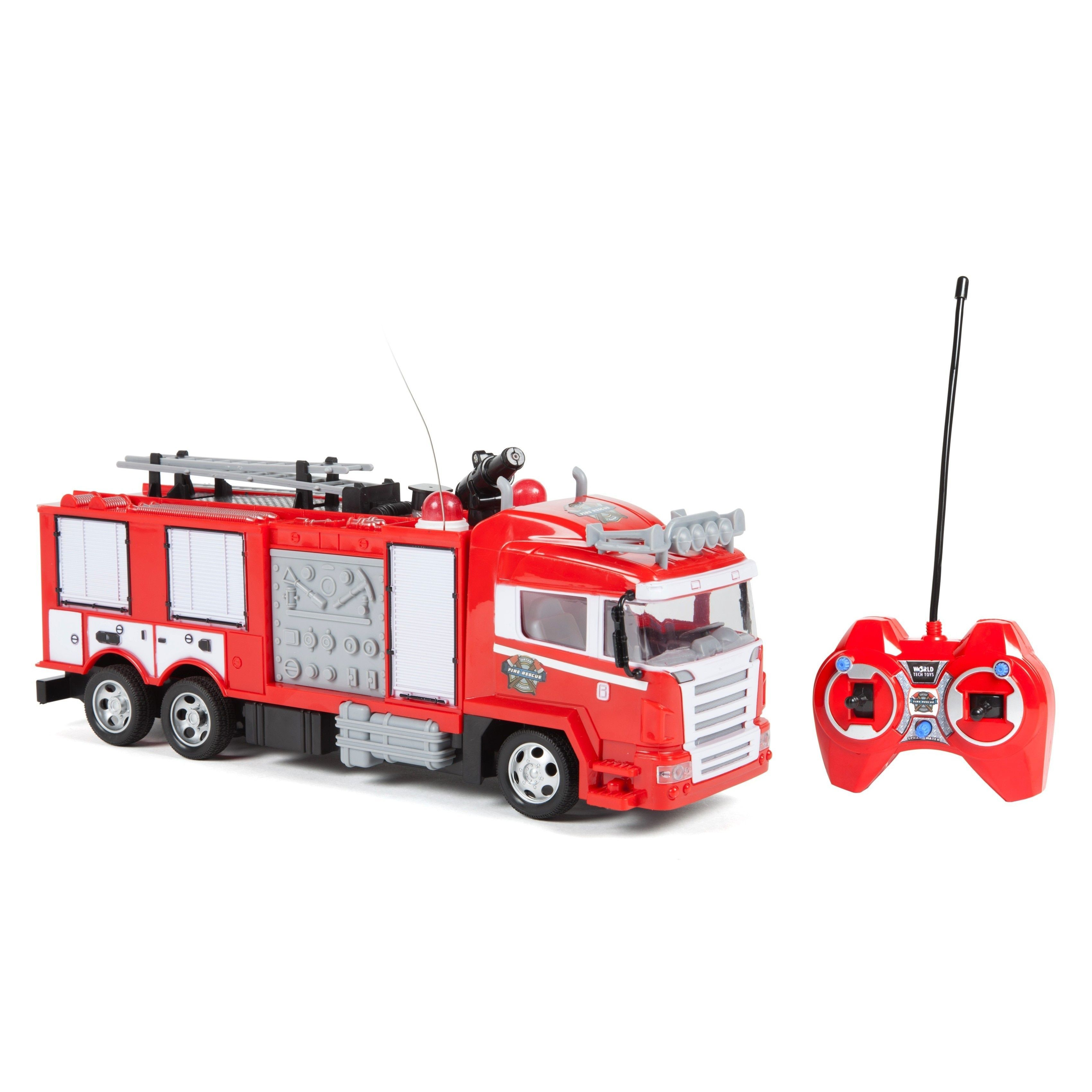 World Tech Toys Boys and Girls Fire Rescue Water Cannon RC Fire