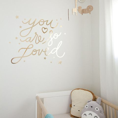 You Are So Loved Gold Wall Decal & You Are So Loved Gold Wall Decal | Pattern Wall Stickers | Pinterest ...