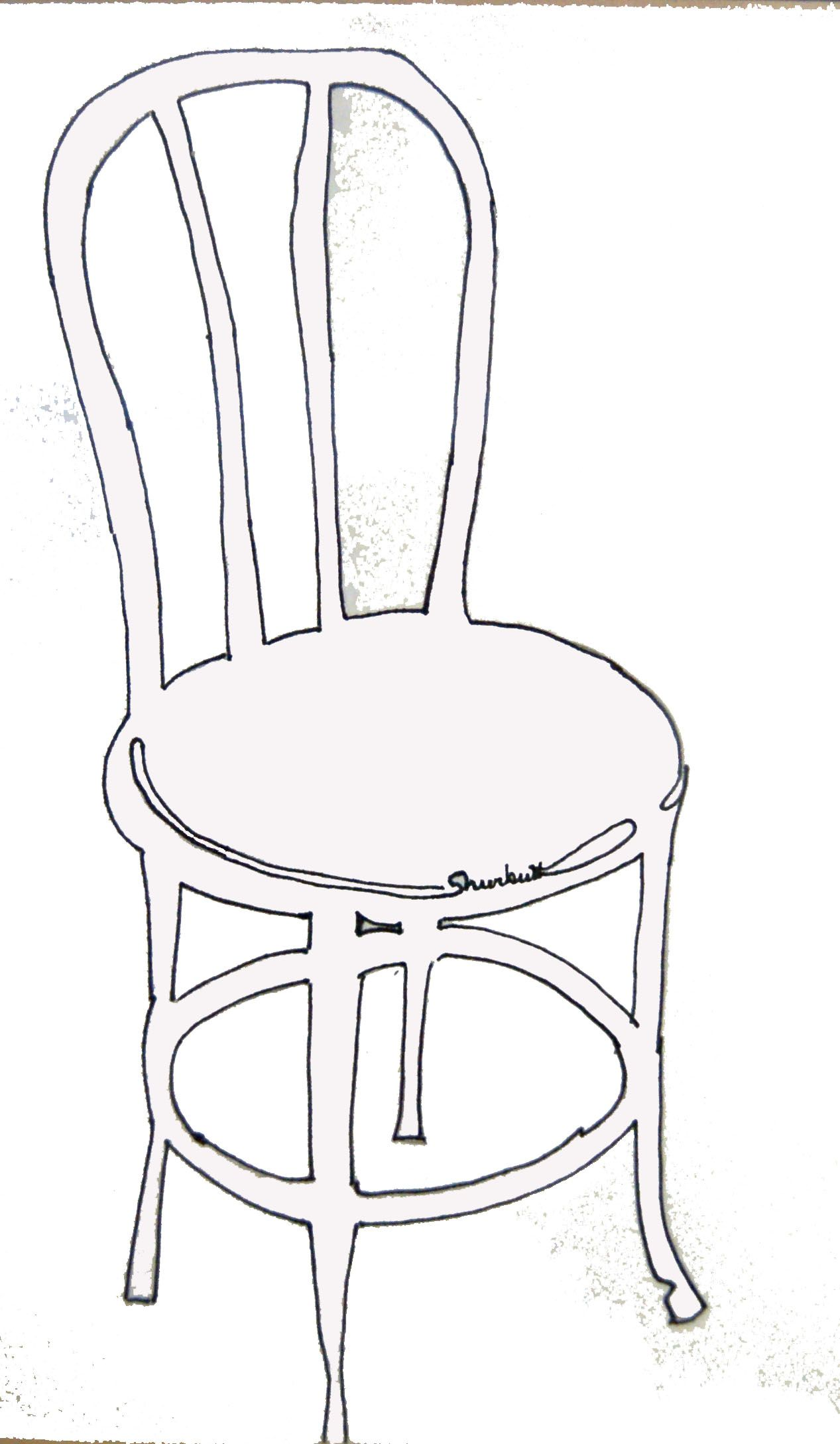 Thonet Chair Ink Drawing
