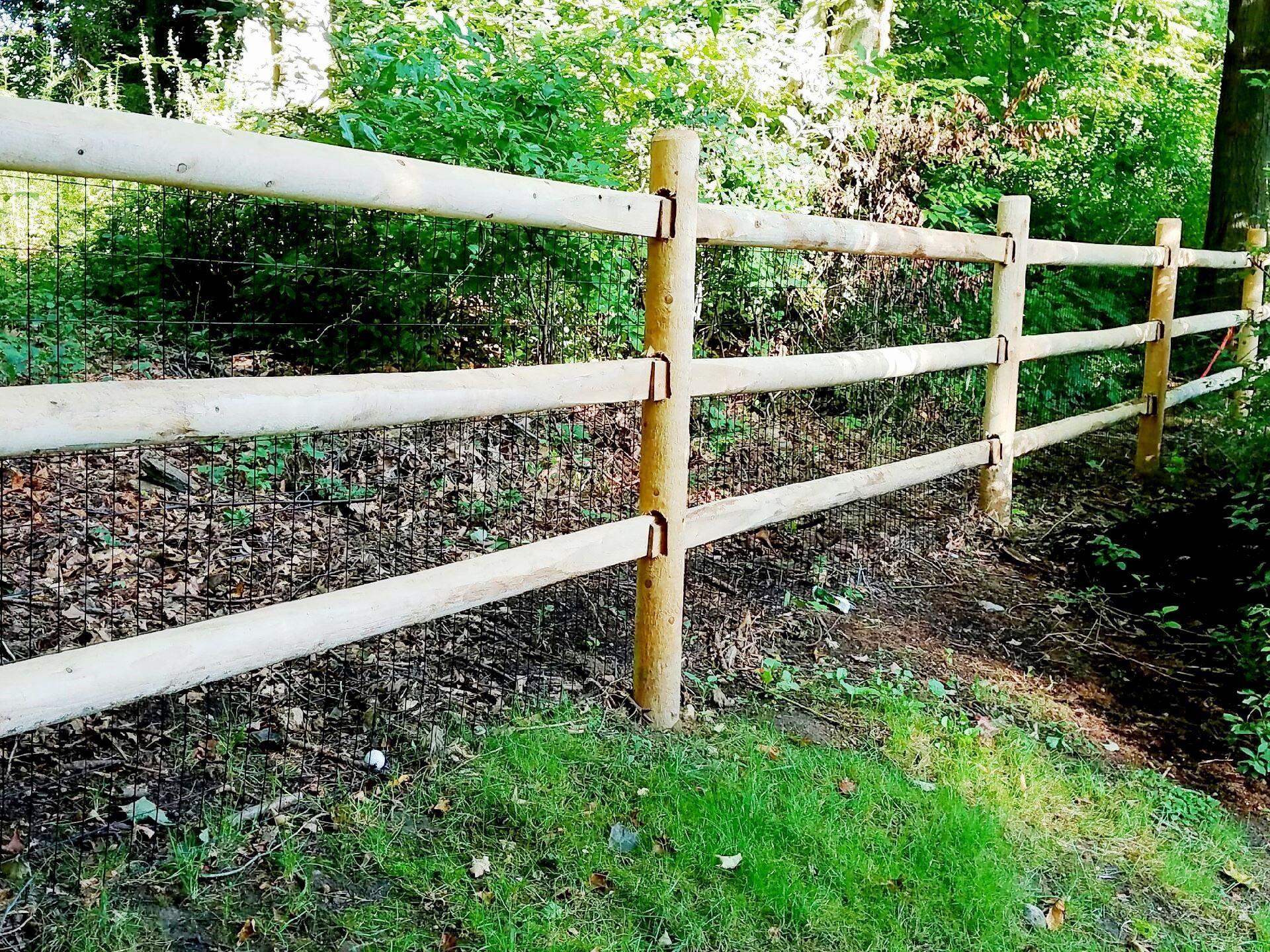 3 Rail Round Rail Post And Rail Fencing Wood Fence Design Fence Design Wood Fence