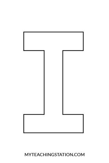 Letter I Craft Iguana Letter I Letter i crafts, Letter i, Lettering