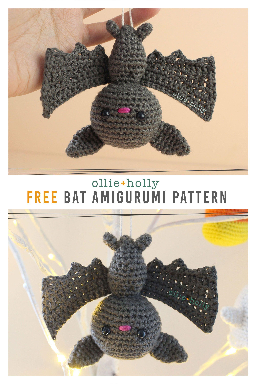 Photo of Free Halloween Bat Ornament Amigurumi Crochet Pattern – Ollie + Holly   Amigurumi Crochet Patterns