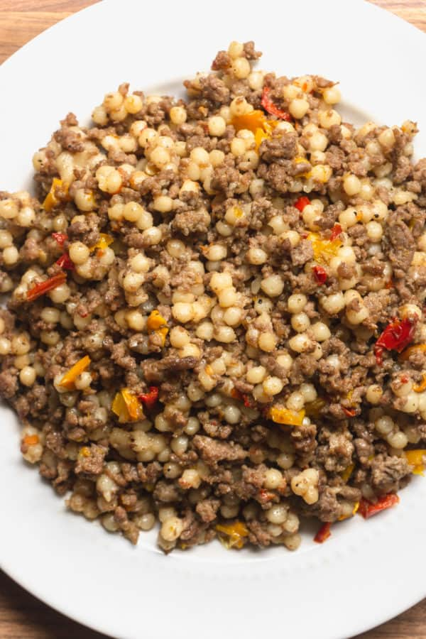 Instant Pot Couscous And Ground Beef Recipe Dinner With Ground Beef Couscous Recipes Couscous How To Cook