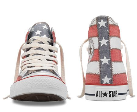 5cbc41937fb9 Chuck Taylor American Flag Hi - Front and Rear View