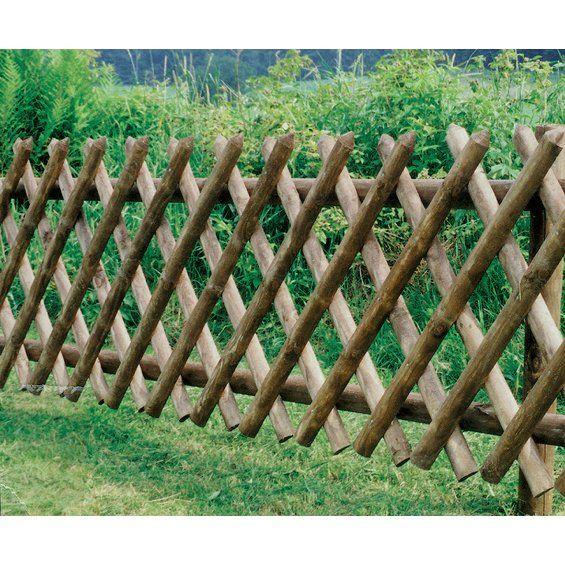 Jagerzaun Druckimpragniert 60 Cm X 250 Cm Jardim De Bambu