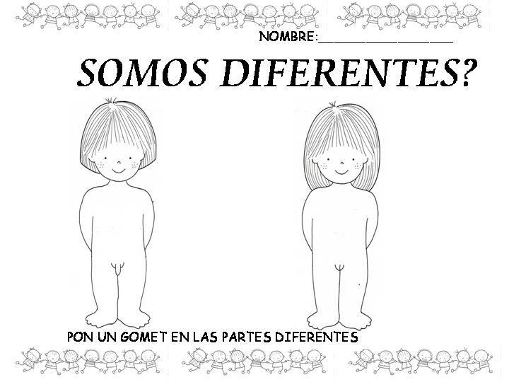Dibujo Niño Niña Desnudo Para Colorear Daycare