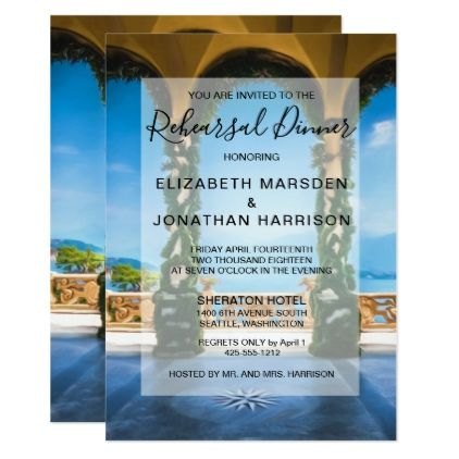 Arches of Italy Rehearsal Dinner Invitation - formal speacial diy